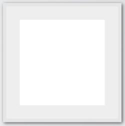 White Frame Passepartout